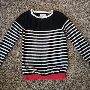 Trovata Pullover Crewneck Striped Sweater
